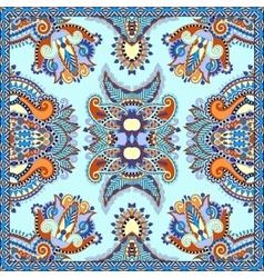 Neck scarf or kerchief square pattern design vector