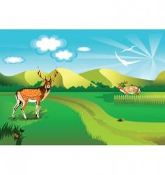 Background deer vector