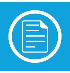 Document sign icon vector