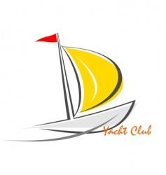 Yacht sailing boat vector