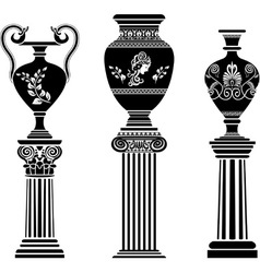 Greek vases 2 vector