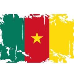 Cameroon grunge flag vector