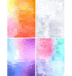 Four geometric retro backgrounds vector