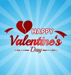 Valentines day typographic background vector