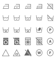 Laundry icons on white background vector