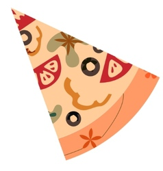Slice of pizza vector