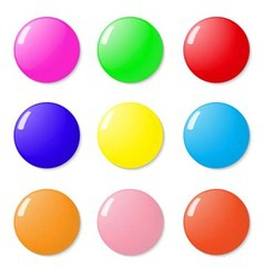 Magnets buttons color on a white background vector