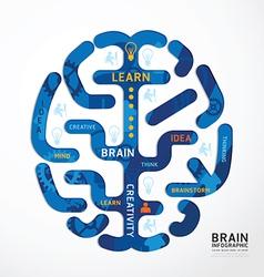 Infographics brain colour design diagram vector