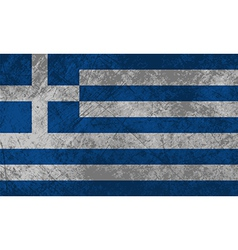 Greek flag grunge vector
