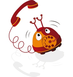 Cheerful phone vector