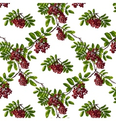 Ashberry rhombic branch seamless pattern with vector