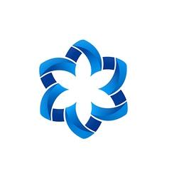 Circular shape flower abstract logo vector