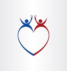 Couple wedding love cheers celebration symbol vector