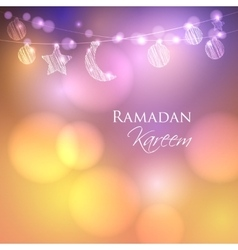 Invitation card for muslim holy month ramadan vector