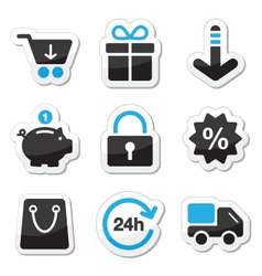 Web and internet icons set - shopping vector