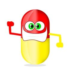 Cartoon capsule vector