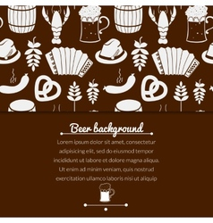 Oktoberfest monochrome background vector