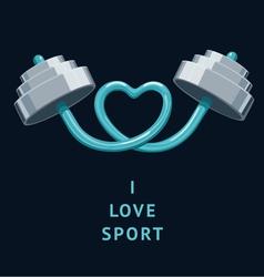 I love sport vector