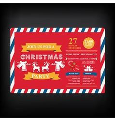 Invitation merry christmas vector