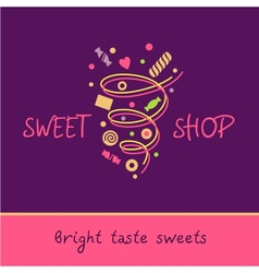 Pastry shop bright taste sweets vector