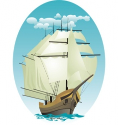 Sailing vessel vector