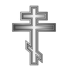 Religious orthodox cross icon vector