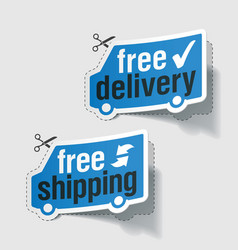 Free delivery free shipping vector