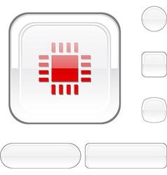 Cpu white button vector