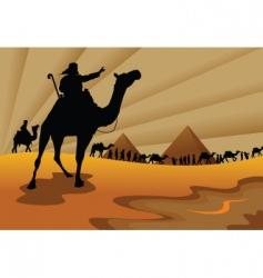 Exodus from egypt vector