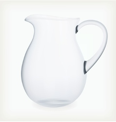 Glass jug vector