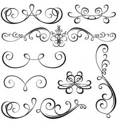 Calligraphic elements vector
