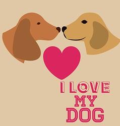 Love pet design vector
