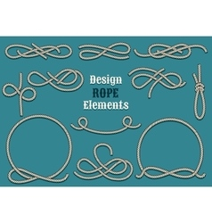 Rope design elements vector