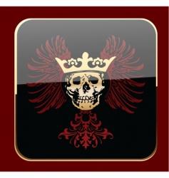 Crowned skull vector