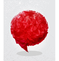 Red social bubble shape vector