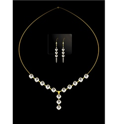 Elegant diamond necklace set vector