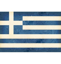 Flag of greece with grunge elements vector