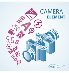 Photo camera icon element vector