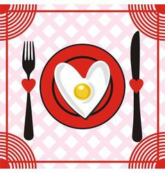 Valentines day menu vector
