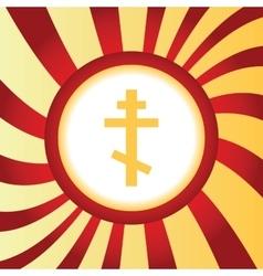 Orthodox cross abstract icon vector