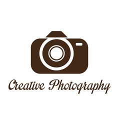 Photographer studio logo template vector