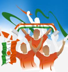 Niger crowd vector