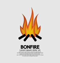 Isolated bonfire graphic vector
