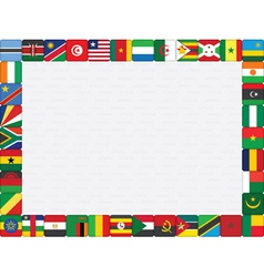 African countries flag icons frame vector