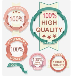 High quality labels vector