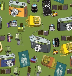 Photo stuff pattern vector