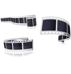 Camera film roll set vector