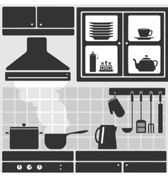 Kitchen in apartment vector