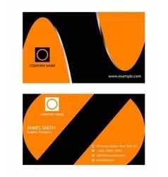 Stylish orange business card template vector