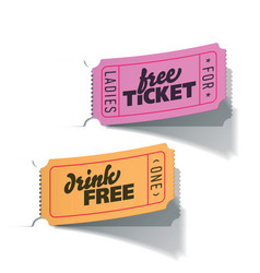 Party tickets vector